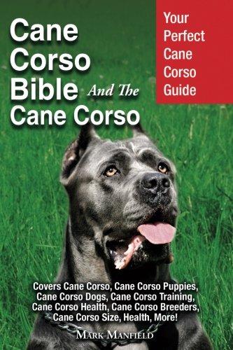 Cane Corso Bible And the Cane Corso: Your Perfect Cane Corso Guide Covers Cane Corso, Cane Corso Puppies, Cane Corso Dogs, Cane Corso Training, Cane ... Breeders, Cane Corso Size, Health, More! (Angeln Cane)