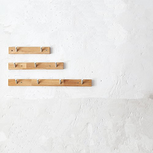 XIAMUO Casa de madera maciza Perchero pared vertical,2 ganchos