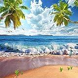 Personalizzato foto wallpaper parete spiaggia spray Hawaii paesaggio marino paesaggio pittura di cocco TV sfondo muro papel de parede, 430cmX300cm