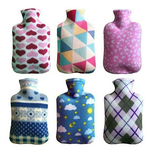Large 2L Hot Water Bottle with Soft Fleece Cover