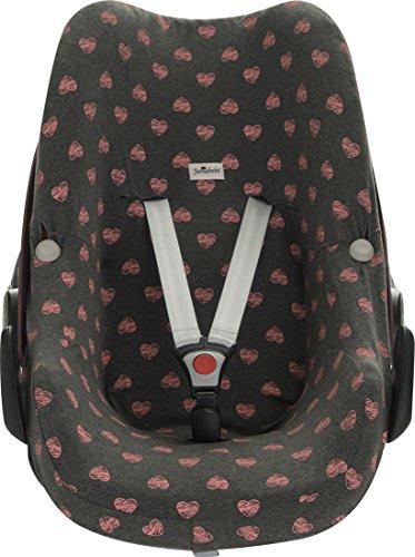 Preisvergleich Produktbild Janabebe® - Baumwollbezug Fluor Heart Pebble Maxi -Cosi y Bébé confort , Abdeckung Stubenwagen , Autositz
