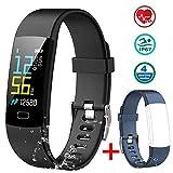 MAYIBAN Pulsera Actividad Inteligente, Pulseras Actividades Impermeable IP67 con Correa Reemplazable, Oxígeno en Sangre Monitor Cardiaco Reloj Pulsaciones GPS para Niños, Mujeres, Hombres