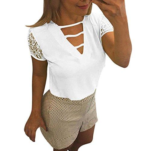 ❀❀Was Sie bekommen:  1 * DamenT shirt ❀❀Notes:  1. Überprüfen Sie bitte das Größendiagramm sorgfältig, bevor Sie es kaufen  2. Die reale Farbe des Einzelteils kann etwas unterschiedlich sein von den Abbildungen, die auf Web site gezeigt werden, die d...