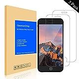 GeekerChip Verre trempé pour iPhone 6/6s Protecteur d'écran[2 pièces], Protection écran en Verre Trempé Films Vitre pour iPhone 6/6s