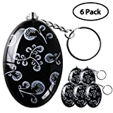 6 Pack ANRUI 120 dB SOS Emergency Personal Alarm Panic Safety Alarm Keychain Self Defense for Elderly Kids Women Adventurer Night Workers Anti-theft Alarm Policeman Recommend (6)