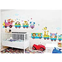 Rainbow Fox El arte Animales helado Tren pegatinas de pared para la decoración de habitaciones para niños, cuarto de niños, bebé, Boys & Girls Dormitorio (XY1125 )