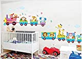 Rainbow Fox Die Tiere Kunst Eis-Zug-Wand-Aufkleber für die Dekoration Kinderzimmer, Kinderzimmer, Baby, Boys & Girls Schlafzimmer (TC2039)