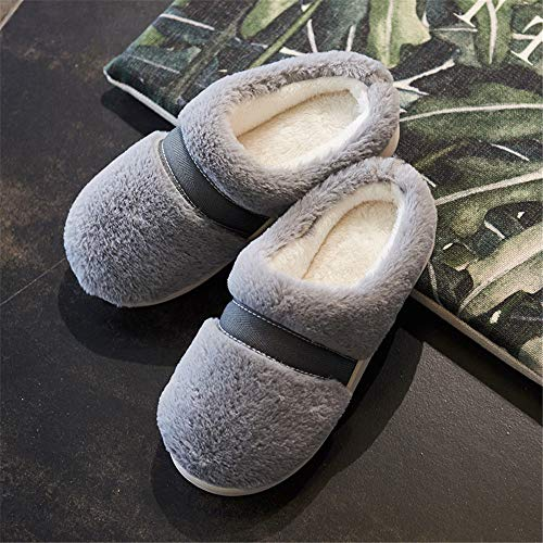aumwolle Hausschuhe Damen Winter Indoor Home Schuhe Rutschfeste warme Schuhe Mädchen Junge, 19, 44 ()