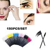 150 STÜCKE Einweg Mascara Zauberstäbe Wimpern Tönung Anwendung Augenbrauen Pinsel Wimpern Mehrfarbiger Augenbrauenpinsel-Werkzeugsatz