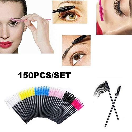 GK 150PCS Máscara de Varilla desechable, aplicación de Tinte para pestañas, Cejas, cepillos, pestañas Kit de Herramientas de Pinceles