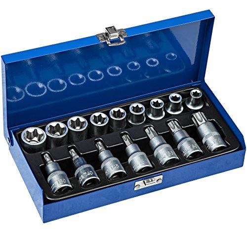 Preisvergleich Produktbild TecTake Steckschlüsselsatz Torx   Steckschlüssel mit Kodierung und Kugelfangrille  inkl. Koffer - verschiedene Modelle (Typ 6   Nr. 402071)