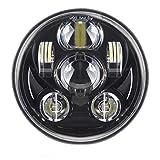 SKUNTUGUANG 5-3/4 5.75 Pollici 45 W LED Faro Per Harley Davidson Motorcycles Headlamp ...
