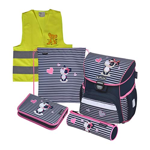 Herlitz Schulranzen Set Loop Plus XL 6 TLG inkl. graviertem Namensschild (Sweety) Sweety Set