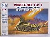 SDV Modellbau Kunststoff Modellbausatz Militär 1:87 H0 Panzer Raketenwerfer TOS-1 Fahrzeuge Ostblock