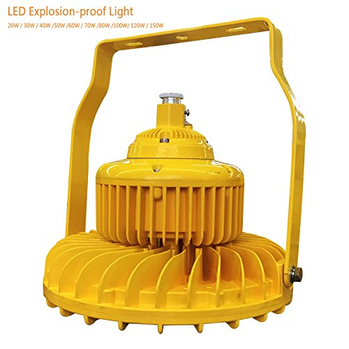 20w led explosion-proof light high bay explosion proof led light with Exdemb II CT6 and Anti-corrosion rating WF2, Luminous Flux >110Lm/w IP66 Waterproof ATEX LED Gas station light (20) (Explosion Proof Lichter)