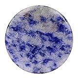 Morella mujeres SMALL Coin moneda colgante amuleto 23 mm piedra preciosa gema Sodalita brasiliano plato chakra colgante de collar y para fortalecer