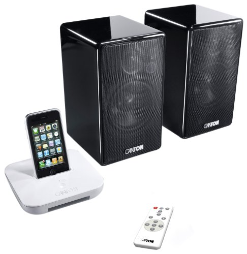 Canton Starter Pack your_Dock / your_Duo schnurlos Musiksystem für Apple iPod/iPhone schwarz Remote Test Station
