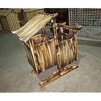 MNII Todos Madera Antiséptico Zona de madera escénica Retro Trash Cabin Al aire libre Gran caja