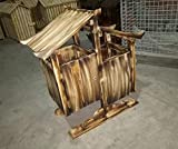 GZD All Wooden Antiseptic Wooden Scenic Area Retro Trash Cabin Outdoor Large Fruit Box Categories Trash Can