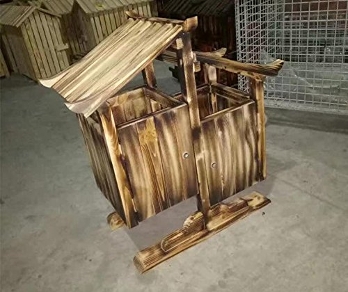 GHFDSJHSD Alle Wooden Antiseptic Wooden Scenic Bereich Retro Trash Kabine Outdoor Große Obst Box Kategorien Mülleimer -