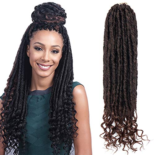 TESS Crochet Braids Hair Extensions Kunsthaar Braiding Hair 24 Strähnen/Pcs mit lockiger Spitze Glatt Haarteile Synthetik Haarverlängerung 16