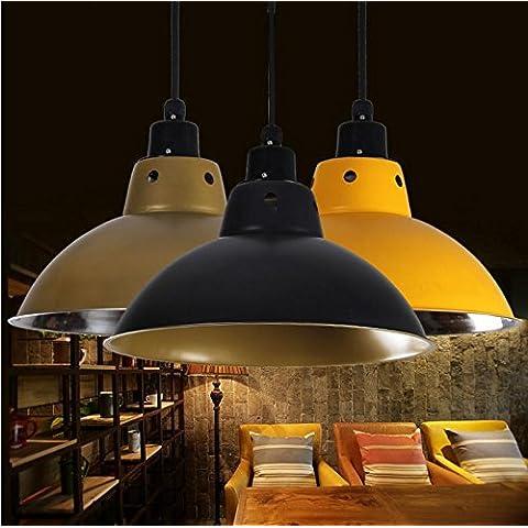 Moderna lampada pendente Acciaio inossidabile lampadari aidmo lente luce ristorante leggero vento industriale alloggiamento lampada colore Sala fitness Ristorante paralumi stile antico ,30cm, rosso