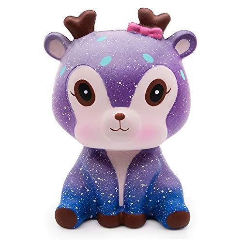 de Squishies Spielzeug, Super Soft Cut Galaxy süße Deer Squeeze Spielzeug Kawaii duftende Squishy Jumbo Stress Relief Dekompression Geschenk für Mädchen Jungen (Deer) ()