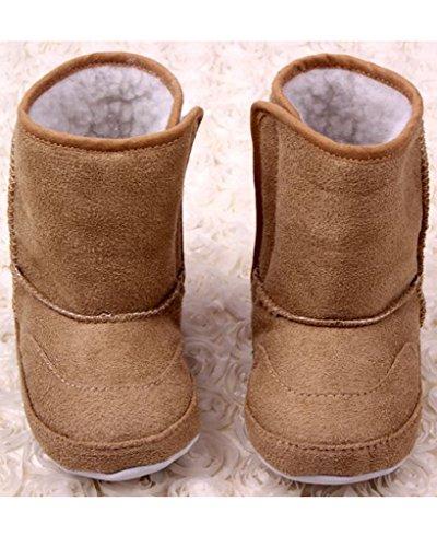 Minetom Pour 0-18 Mois Bébé Fille Garçon Garder Bottes de Neige Chaude Chaussures Kaki