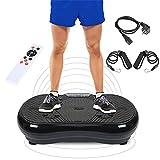 Wefun Fitnessplatte Vibrationstrainer, für Den Büro-Wohnzimmer, mit Bluetooth,Vibrationsplatte Body-Shape (Schwarz)