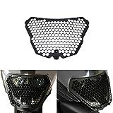 RC 390 200 125 Motorrad Seitenmontage Scheinwerfer Grill Headlight Cover Mask für KTM RC390 RC200 RC125 2014 2015 2016 2017 (Schwarz)