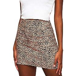❤️ Falda Leopardo Mujer Invierno Sexy, Leopardo de Las Mujeres Impreso Falda Cintura Alta Lápiz Atractivo Bodycon Hip Mini Falda Absolute
