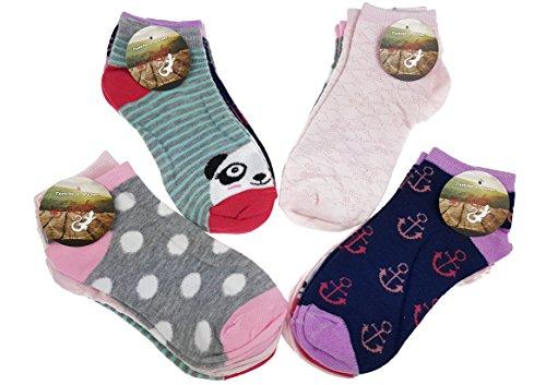 Laake 12 Paar original SNEAK ON! Mädchen Sneaker Kids Kinder Socken 95% Baumwolle Bunter Mix (27-30, 212)