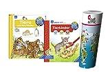 Ravensburger Kinder Sachbuch 4-7 Jahre | Tiere und ihre Kinder + aktiv-Heft - Malen | Rätseln | Basteln mit Kinder Tier Weltkarte by Collectix