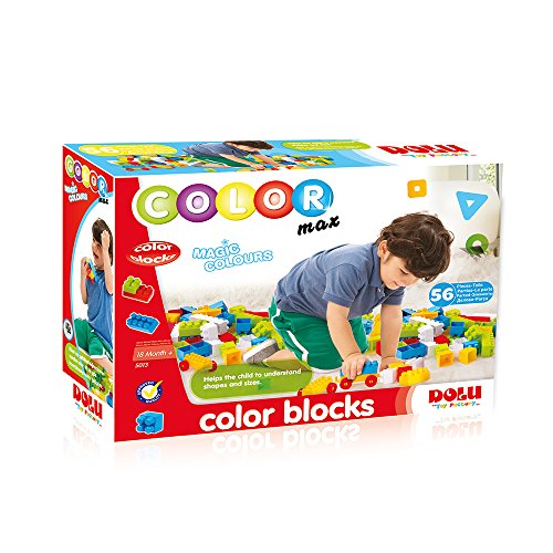 Fisher-Price- Color BLOCKS-56 Pieces, (6265013)