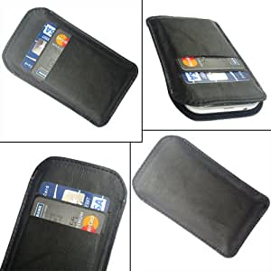 i-KitPit Quality PU Leather Pouch Case Cover For Huawei Ascend Y511 (BLACK)