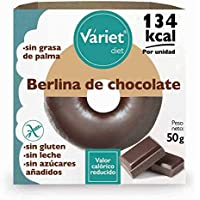 Berlina de CHOCOLATE LIGHT VÁRIET. Sin gluten, sin leche, sin grasa de palma