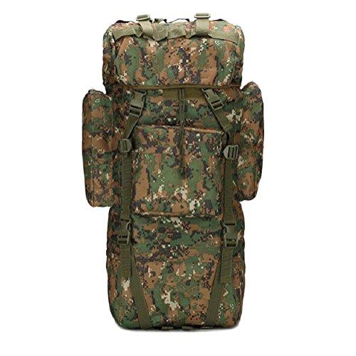 Z&N Outdoor capienza di 65-75L borsa da montagna campeggio sacco da campeggio sacca da viaggio copertura impermeabile borsa a tracolla zaino militare zaino tatticoRipstopG65L E