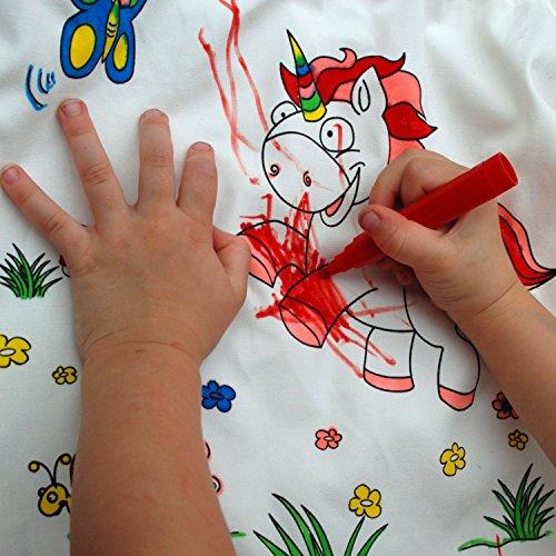 EinhornLiebe® Maschera per Bambini con Unicorno per Fai da Te 6 Pezzi Bianco