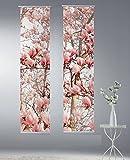 2er Set Horn textiles Flächenvorhang digital bedruckt Limbo 87 und 88 (Breite je 43 cm, Höhe je 180 cm) Gesamtbreite 86cm
