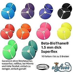 bio-leine Biothane Beta Superflex Meterware – in 14 Farben und bis zu 5 Breiten I 1,5mm dick – schmutz- und…