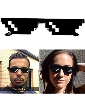 Thug Life Occhiali, motivo Pixel, ideale per feste e travestimenti