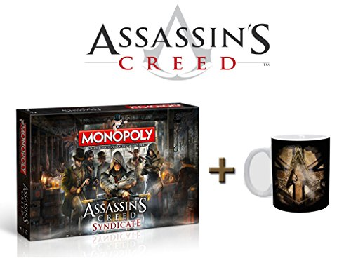 Assassin's Creed Monopoly Syndicate + Tasse Golden Union Jack Brettspiel - Monopoly Creed Syndicate Assassins