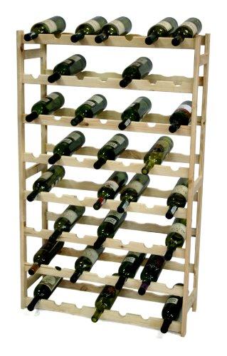 MODO24 - Cantinetta per Vini, in Legno Non trattato, Legno, Non trattato, 72,5 x 25 x 118 cm