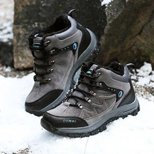 XI-GUA ,  Scarponcini da camminata ed escursionismo uomo Grau,Plus-Samt
