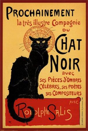 Chat Noir (Steinlein) 61 x 91 cm Affiche