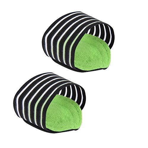 Tasquite Arch Support Sleeves mit Gel-Kissen, Arches Support, Fußstütze, Fuß Arch unterstützt elastische Bandage Arch Flatfoot Orthetics Massage Pad Einlegesohlen Fußsocken (Color : Green, Size : M) -
