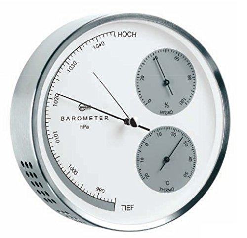 Barigo Edelstahl Wetterstation 16cm