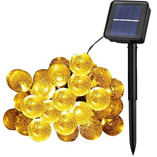 YLSMN Décoration de vacances LED Lumière Styling Bubble Ball String de lumière Extérieure Imperméable À L'eau Solaire Bubble Ball String de Lumière veilleuse