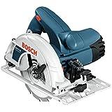 Bosch Professional Handkreissäge GKS 190 (mit 1 Sägeblatt 190 mm, 70 mm Schnitttiefe, 1,400 W) blau, 0601623000