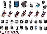 AZDelivery 35 in 1 Sensori di moduli e zubehoerkit Arduino per Arduino e altri Microcontroller con eBook